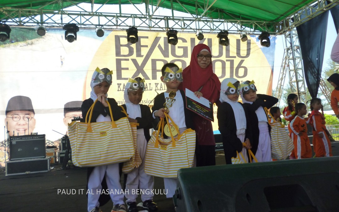 PAUD IT Al Hasanah Rajai Lomba Tari dan Mewarnai Bengkulu Expo