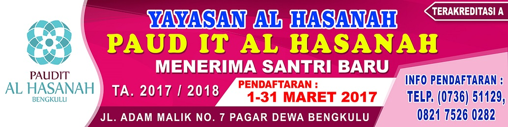 PSB PAUD IT Al Hasanah TP. 2017/2018