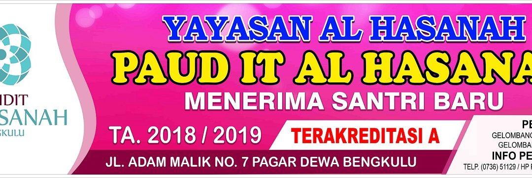 Info PSB PAUD IT Al Hasanah TA. 2018/2019