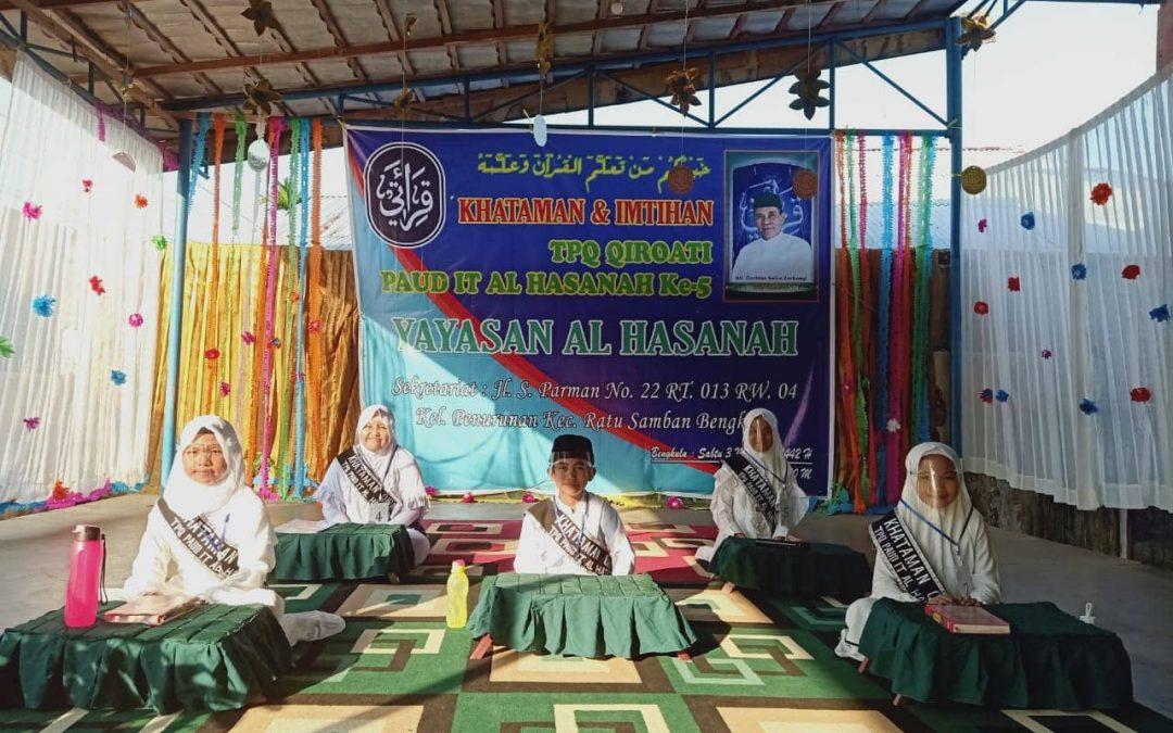 Khataman dan Imtihan ke-5 TPQ Qiraati PAUD IT Al Hasanah Bengkulu